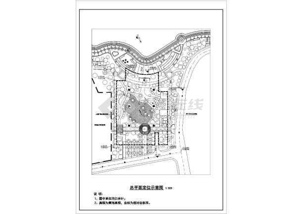 某单层框架结构地下停车场建筑设计施工图