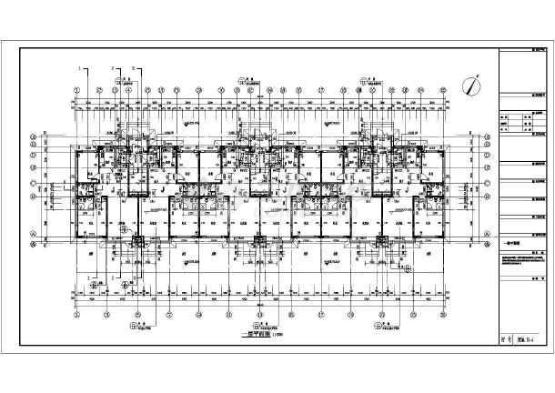 某6层住宅楼建筑设计方案,带闷顶层设计,结构形式采用框架异形柱结构