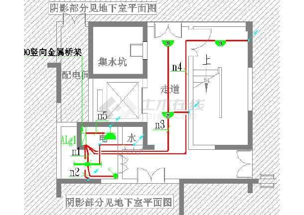 二类火灾住宅-消防电气、电源高层v火灾_cad图怎么把cad图纸成正的转图片