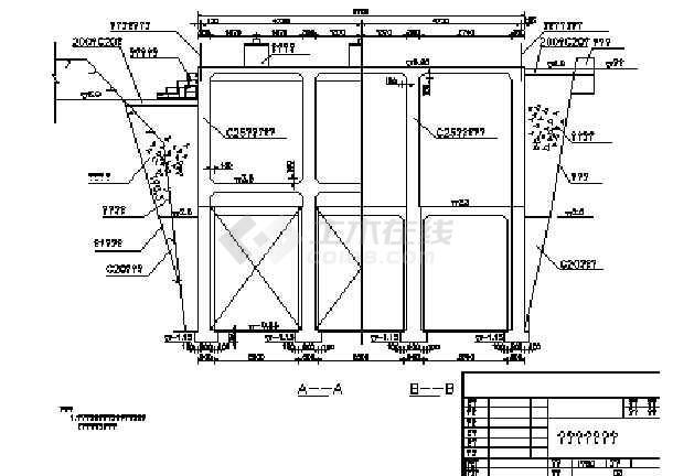 闸板结构及配筋图
