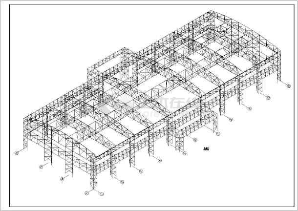某钢结构报告厅结构设计施工图纸
