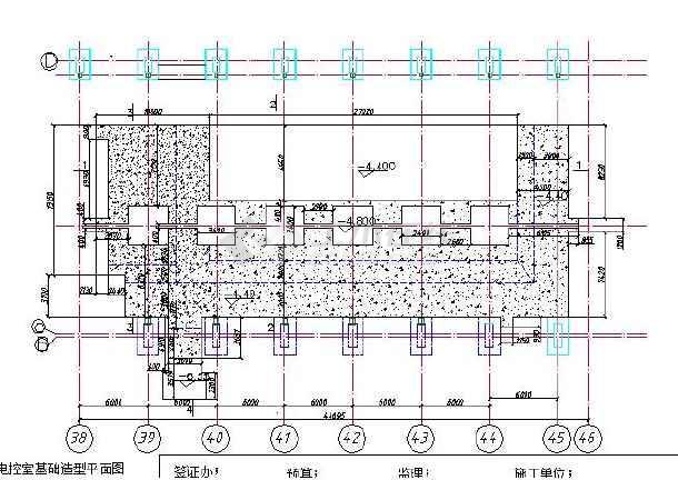 电控室基础土方全套设计施工平面图