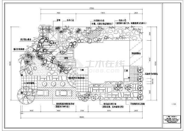 现代电话庭院设计平面图_cad别墅下载物业华庭别墅瑞仕图纸图片