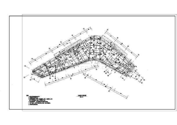 某标志性售楼部框架结构设计施工图,包括结构设计总说明,基础平面