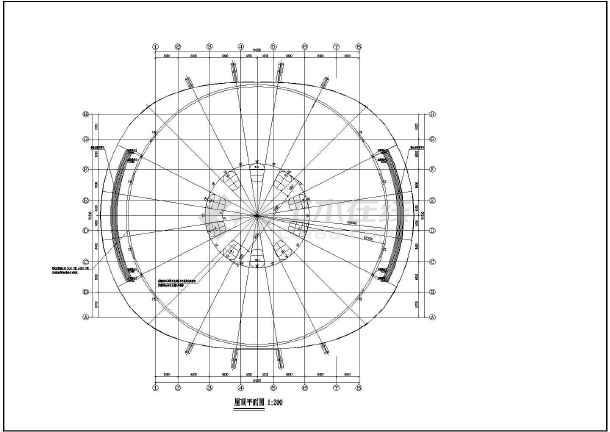 某地三层框架结构体育馆建筑设计扩初图