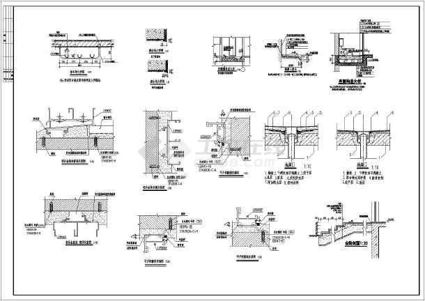 某地3层欧式别墅建筑方案图,包括一层,二层平面图,三层平面图,屋顶