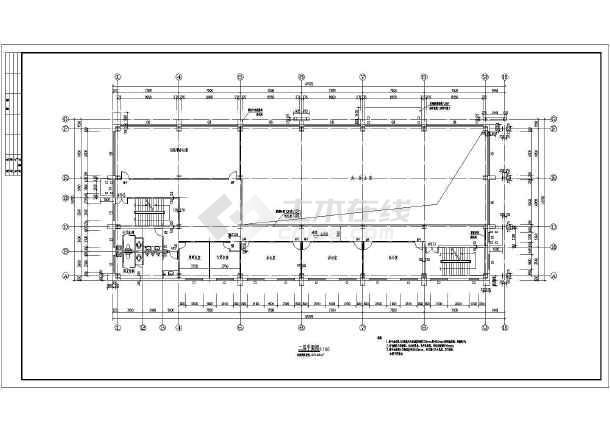 宁夏某3层钢结构售楼部建筑设计施工图纸