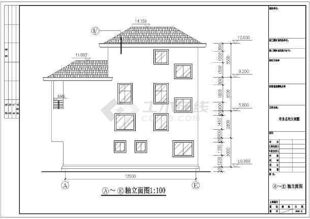 结构别墅建筑设计施工图纸,该图纸包括:建筑设计说明,建筑各层平面图