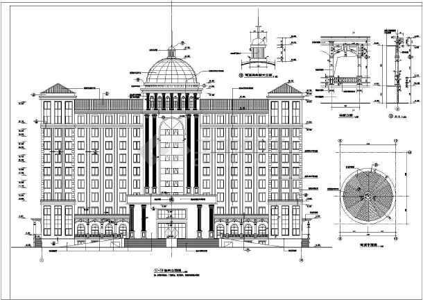 某地10层办公楼建筑方案设计图纸