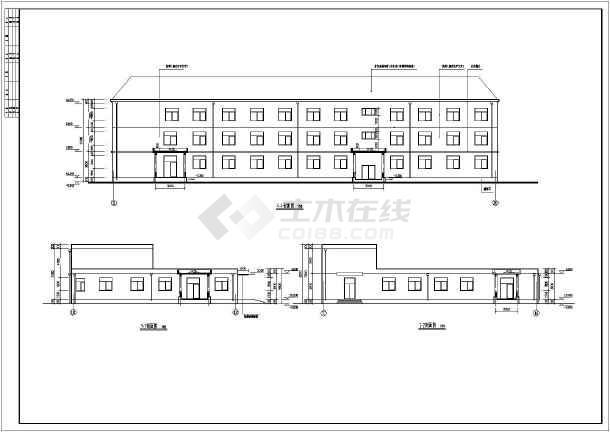 某地三层砖混结构敬老院建筑设计施工图纸