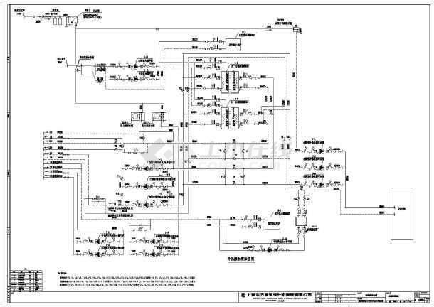 图纸 暖通设计图  中央空调(中央空调图纸)  空调制冷机房设计图  某