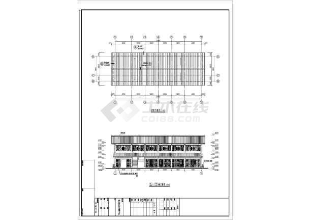某地多层框架结构古建式山庄建筑设计施工图