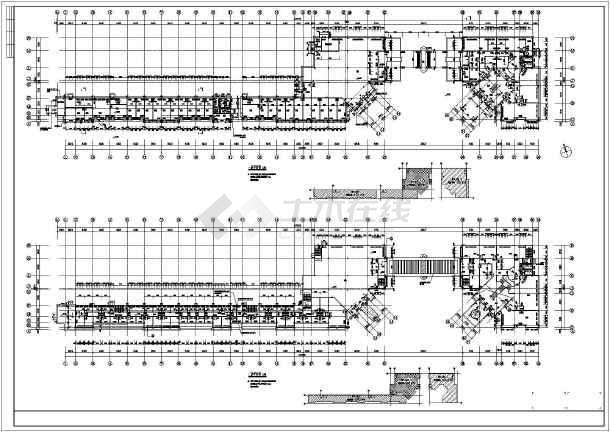 某地2层框架结构商铺建筑及结构施工图
