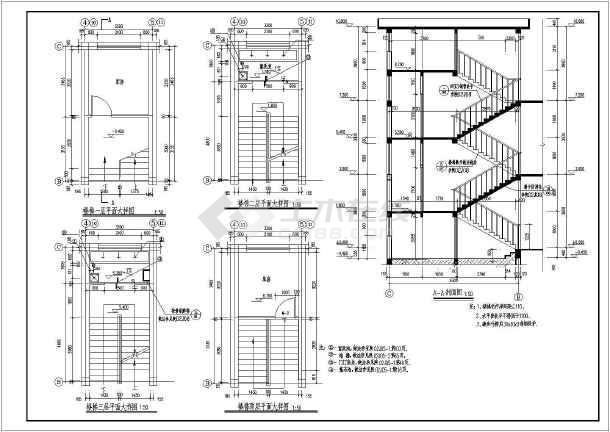 某地区三层框架结构教学楼建筑施工图