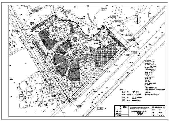 某地区展览馆规划设计总平面布置图图片1