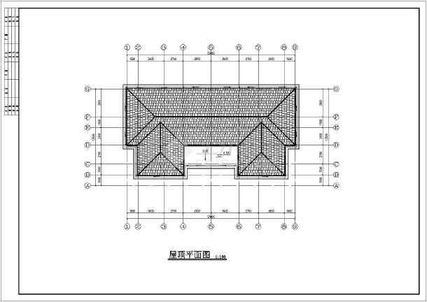 某地2层框架结构别墅建筑平立剖施工图