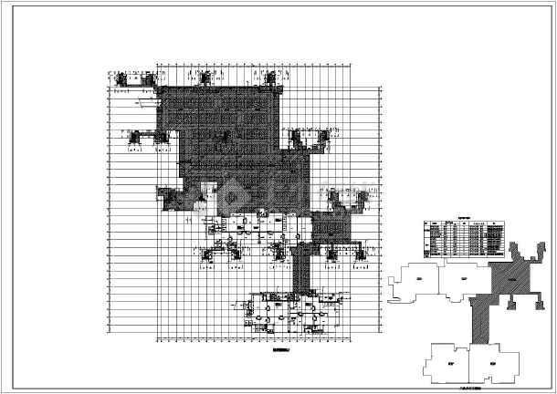 某小区高层框架结构地下车库消防给水设计图