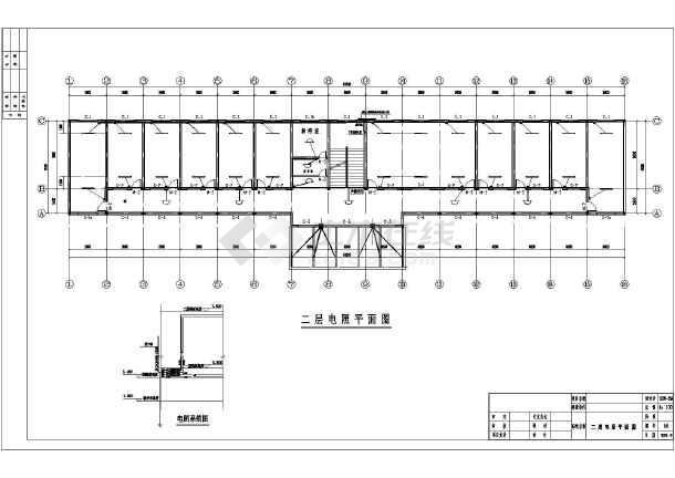 【安徽】两层砖混结构收费站建筑,结构cad施工图图片2