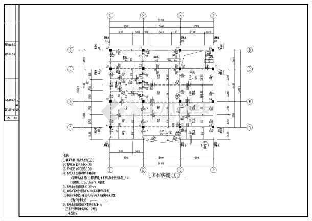 【上海】某三层框架结构别墅结构施工图