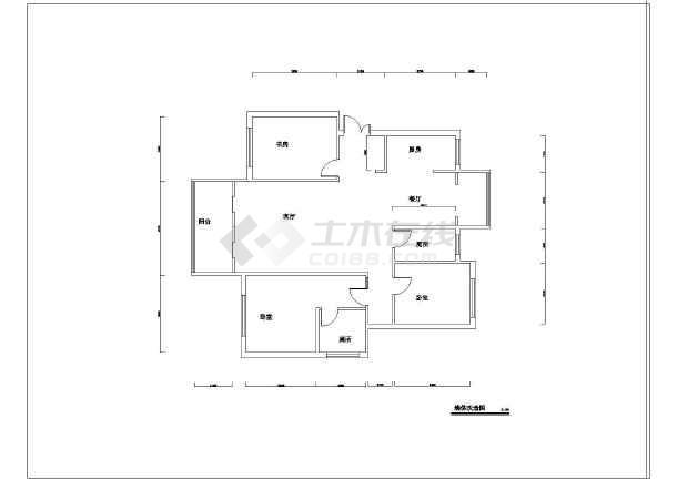 简欧风格家装三室两厅室内装修设计图