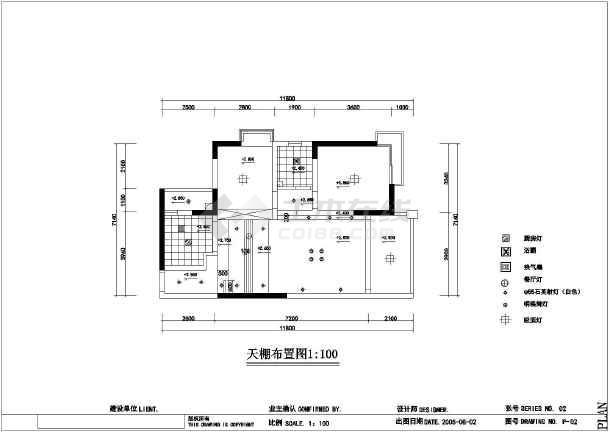 某中式风格两居室家装装修设计图纸