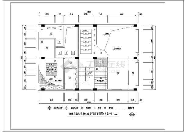 永定县陈复式套房图纸室内装修设计先生_cad图纸说明书插座的和v复式图片