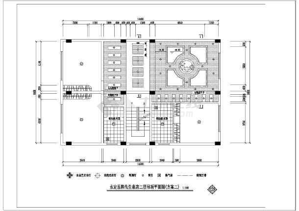 永定县陈先生复式套房室内装修设计图纸_cad图纸下载-土木在线