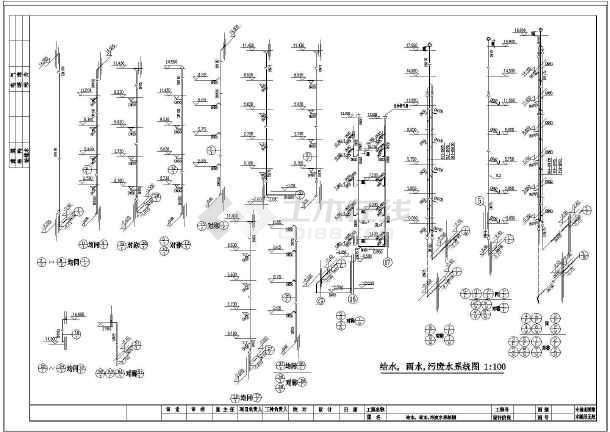 【浙江】某多层住宅楼给排水设计图-图1