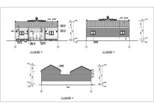【单层图纸】祠堂小风格建筑施工设计工图乐高70738传统图片