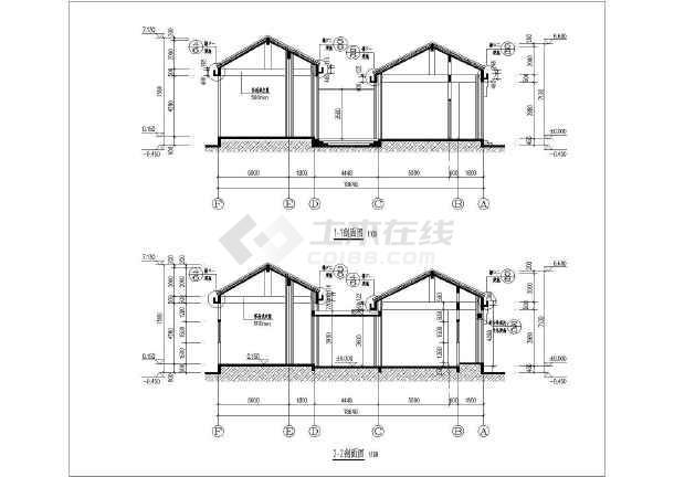 【图纸传统】风格小祠堂建筑施工设计工图单层签名不图片