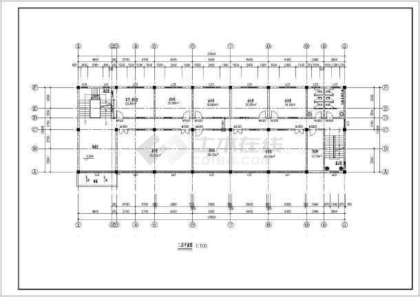 4层办公楼平面图