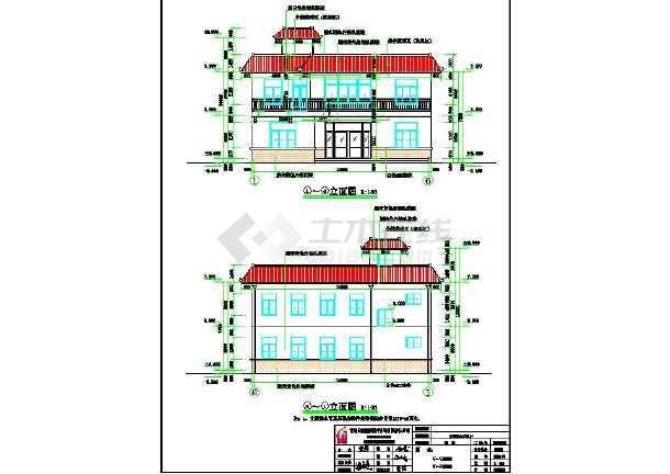 某地带堂屋,土炕二层农村房屋建筑设计图图片1