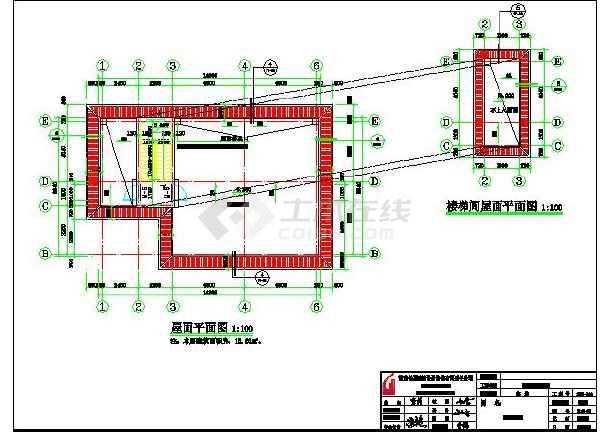 某地带堂屋,土炕二层农村房屋建筑设计图