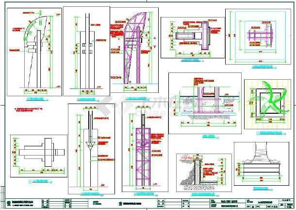 城市商业街景观规划设计图(铺装水景照明旗杆等)