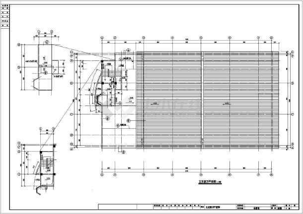 某体育馆建筑图纸图纸全套(CAD)的a平面,含义b中图片
