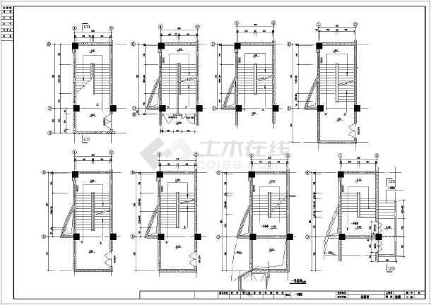 某体育馆建筑平面图纸全套(CAD)道栏图纸图片