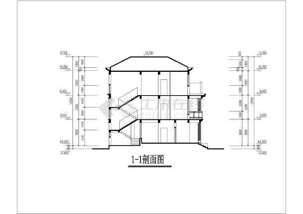 某地两层砖混结构农村别墅建筑设计方案图纸