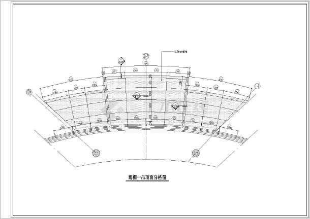某项目入户门钢结构雨棚结构施工图