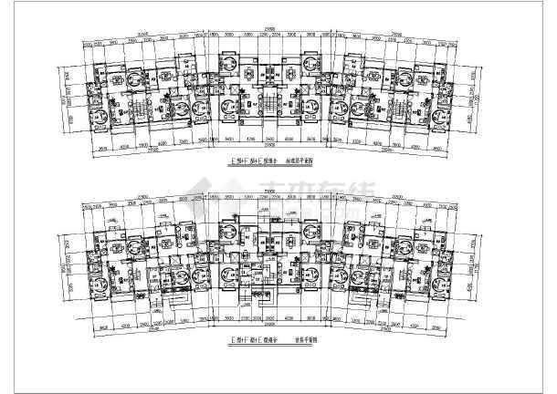 10种一梯两户框架结构住宅户型方案图