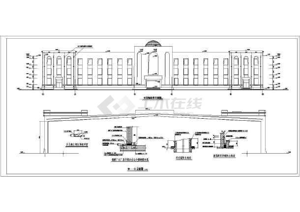 某地多层欧式办公楼建筑设计施工图