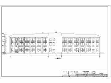 某地四层框架结构殡仪馆建筑设计方案图