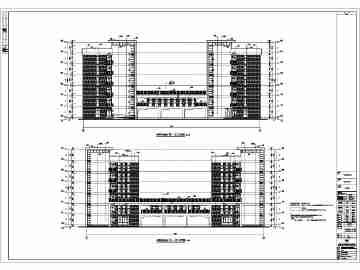 某地两栋6层大学生宿舍楼建筑设计施工图图片