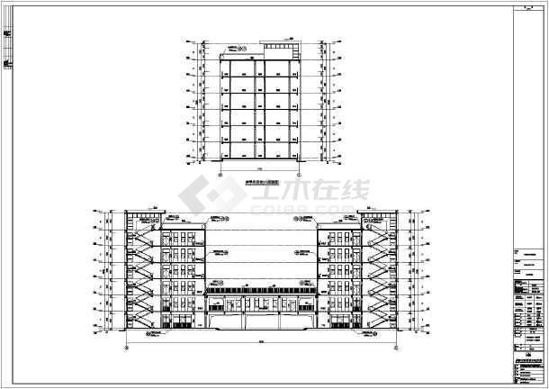 某地两栋6层大学生宿舍楼建筑设计施工图图片3图片