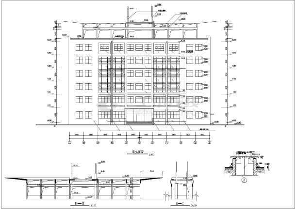 某地区6层办公楼建筑设计施工图纸