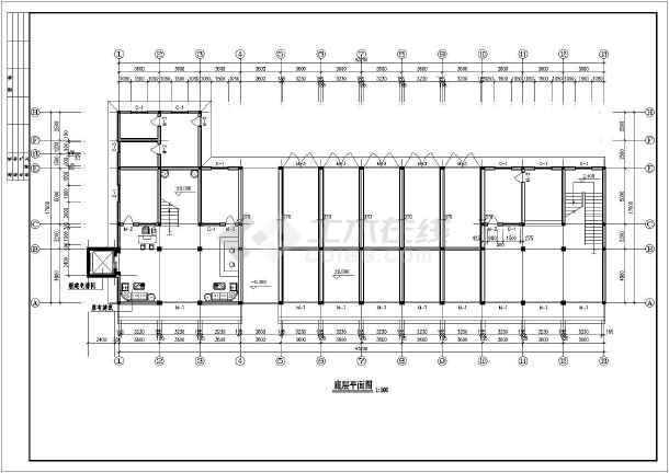 办公楼• 底层平面图• 建筑方案• 平面图• 立面图