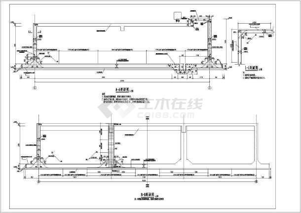 结构_某污水处理池(水池)结构图