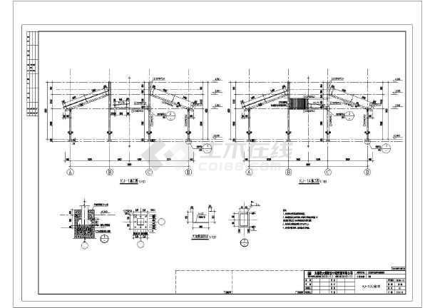 某小区轻钢车棚结构图