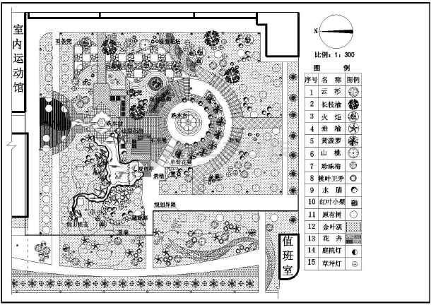 某文化广场景观规划设计规划平面图图片