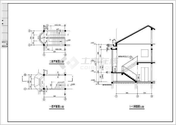 北京某农村二层砖混别墅建筑结构施工图