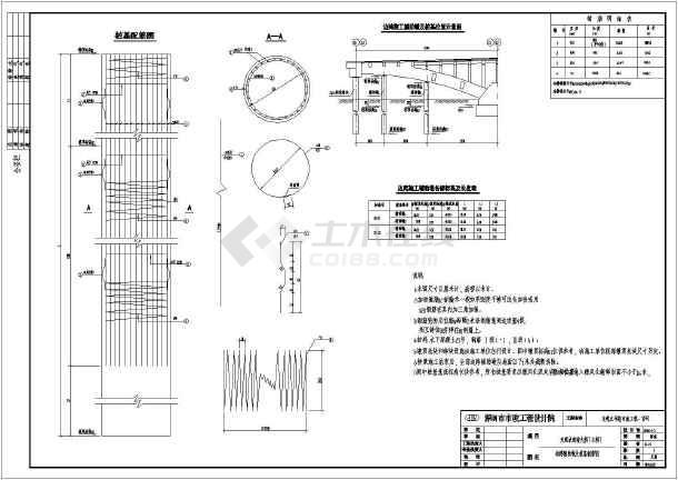中承式钢管混凝土系杆图纸下部结构施工图_cad拱桥下载cad浏览器急速图片